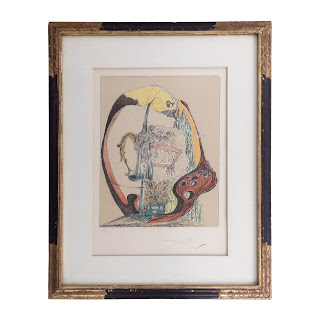 """Salvador Dalí SIGNED """"Tonielli The Weak of the Night Will Cradle the Earth"""" Signed Lithograph"""