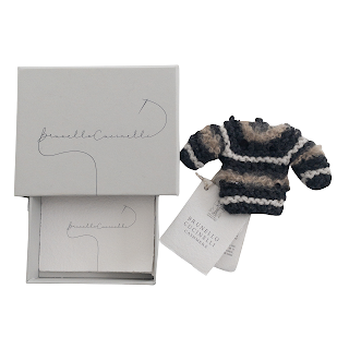 Brunello Cucinelli NEW Tiny Knits Cashmere Sweater Key Fob