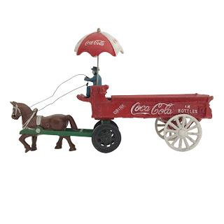 Coca-Cola Cast Iron Horse-Drawn Cart