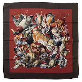 Hermès Gibiers Silk Scarf 90