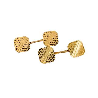 14K Gold Etched Cufflinks