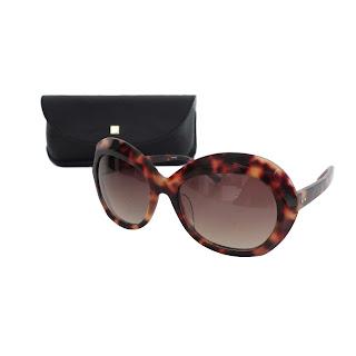 Linda Farrow Luxe Faceted Cat Eye Sunglasses