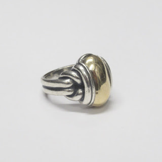 James Avery Sterling Silver & 14K Gold Ring
