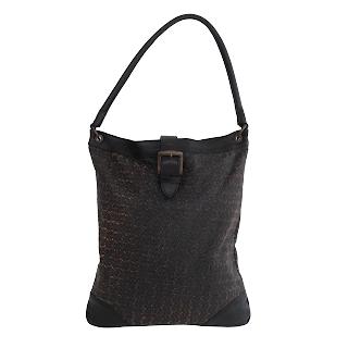 Dries Van Noten NEW Laser Cut Leather Shoulder Bag