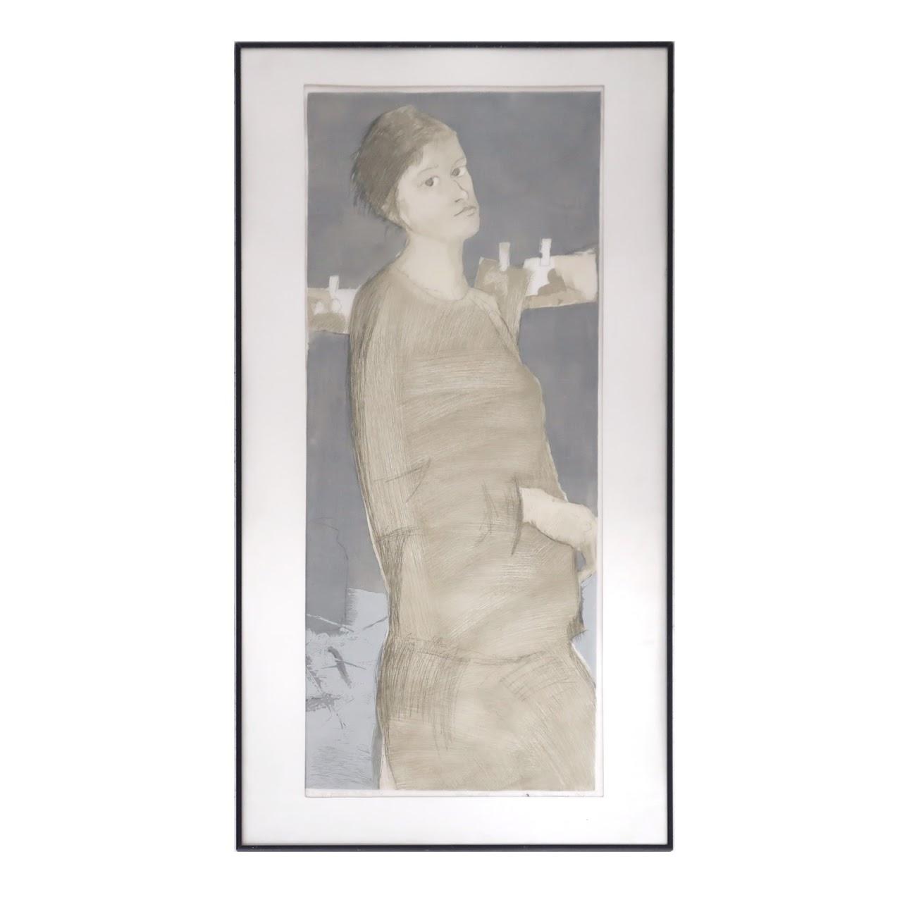 Signed Lithographic Portrait 2