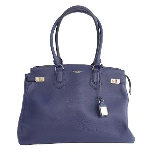 Henri Bendel Purple Leather Shoulder Bag