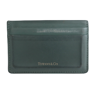 Tiffany & Co. Green Leather Card Wallet