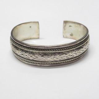 Sterling Silver Woven Cuff