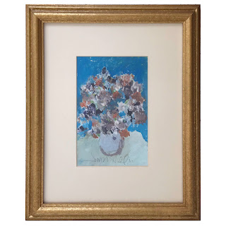 Jim Hill Signed Still Life Gouache Painting #2