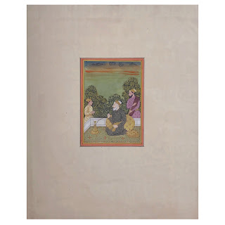 Indian Mughal Style Miniature Painting