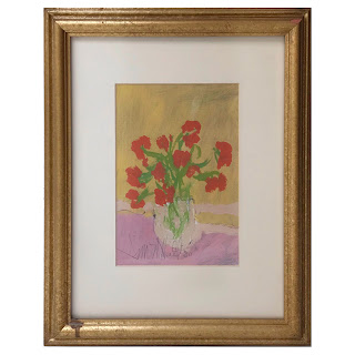 Jim Hill Signed Still Life Gouache Painting #1