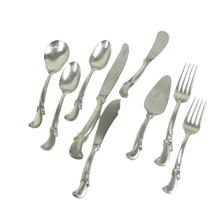 Sterling Silver 75-Piece Wallace 'Waltz of the Spring' 12 Place Flatware Setting
