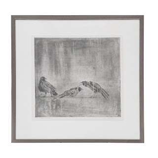 Lynn Peterfreund Signed 'A Murder of Crows 2' Etching