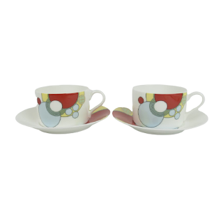 Frank Lloyd Wright Noritake Imperial Hotel Cup & Saucer Pair