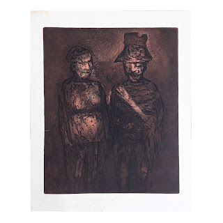 Chaim Koppelman Signed 'Mr. and Mrs.' Etching