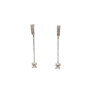 Sterling SIlver & Cubic Zirconia Drop Earrings