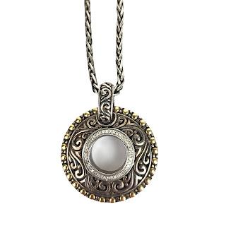 Sterling Silver, 18K Gold & Diamond EFFY Pendant