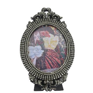 Rhinestone Embellished Frame