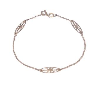 14K Gold Oval Link Bracelet