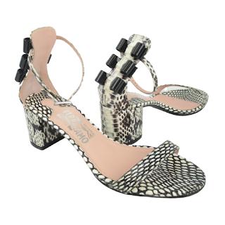 Salvatore Ferragamo Snake Print Sandals