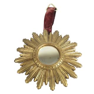 Gold Starburst Convex Mirror