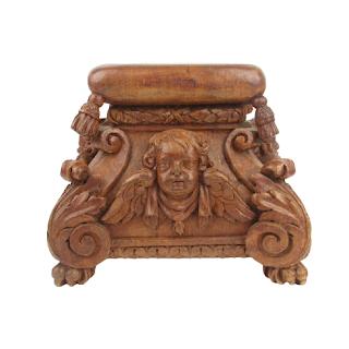 Carved Cherub Pedestal