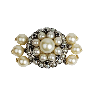 14K White Gold & Pearl Clasp