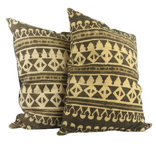 Mud Cloth Patterned Throw Pillows Lot