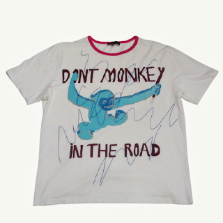 """Etro """"Don't Monkey In the Road""""  T-Shirt"""