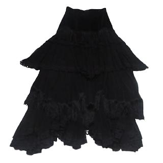 Dolce & Gabbana for Bergdorf Goodman Fringe & Lace Strapless Dress