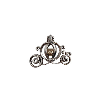 Sterling Silver and 10K Gold Disney Cinderella Carriage Pendant