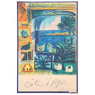Henri Deschamps after Pablo Picasso 1963 Cote D'Azur Lithograph Poster