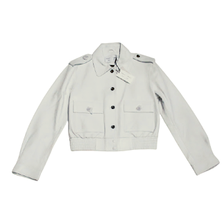 Proenza Schouler White Label Leather Bomber Jacket