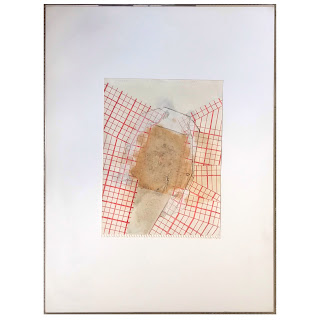 Susan Smith Signed 'Grid Dissolution' Mixed Media Painting