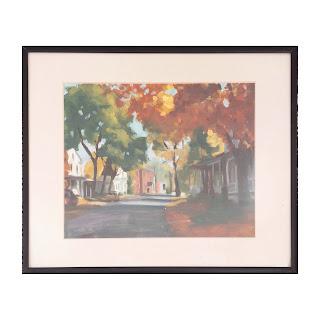 J. Martin Signed Autumnal Scene Painting