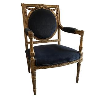 Louis XVI Gilt Fauteuil