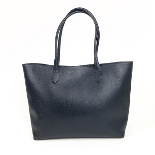 Linjer Navy The Soft Tote Bag