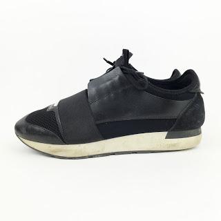 Balenciaga Leather & Nylon Sneakers
