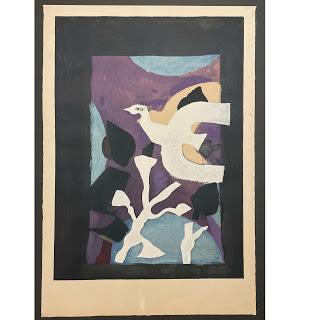 Georges Braque 'Dernieres Messages' Lithograph