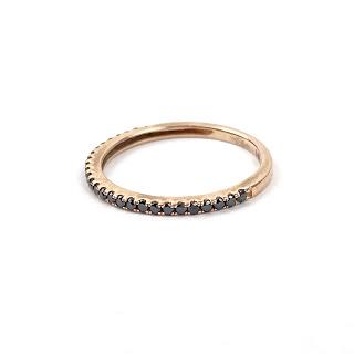 14K Rose Gold & Onyx Ring