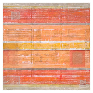 Gregory Hilton Large Scale Painting in Oranges