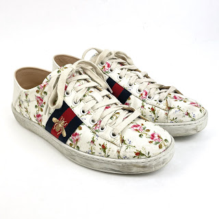 Gucci Ace Floral Bee Trainers