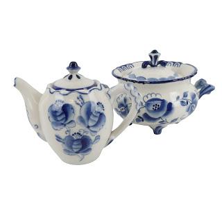Gzel Vintage Porcelain Tea Pot & Terrine