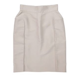 Yves Saint Laurent Beige Pencil Skirt