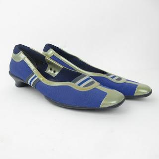 Prada Blue Nylon Heels