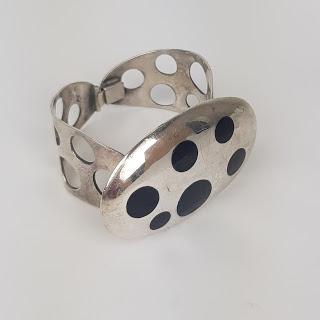 Sterling Silver Dots Bangle