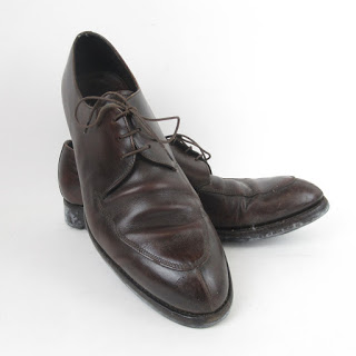 Prada Brown Leather Derby Shoes