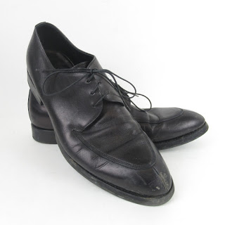 Prada Black Leather Derby Shoes