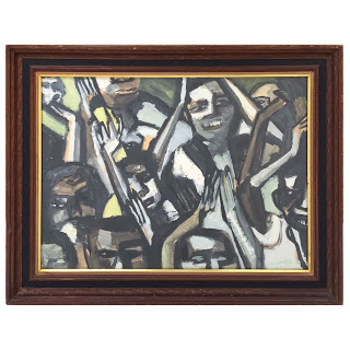 Modernist Signed Gouache Painting, 1967