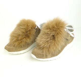 Pierre Hardy Suede & Rabbit Fur Sneakers